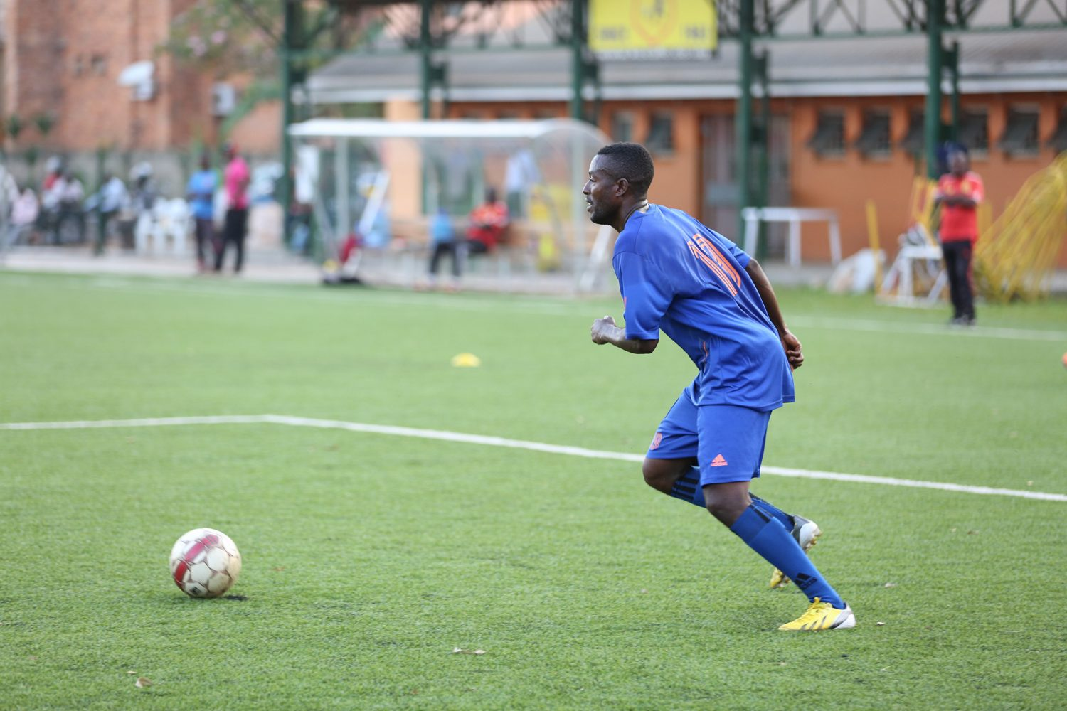 KCCA FC midfielder Brian Majwega during training at the Philip Omondi Stadium in Lugogo, he will be a vital figure for KCCA FC in the second round of the season