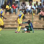KCCA FC midfielder Brian Majwega leaves his marker for dead during the FUFA Uganda Cup tie against Koboko Rising Stars, KCCA FC won the tie 6-1