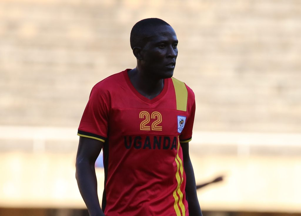 KCCA FC striker Geoffrey Sserunkuuma against the Harambee Stars of Kenya at Namboole