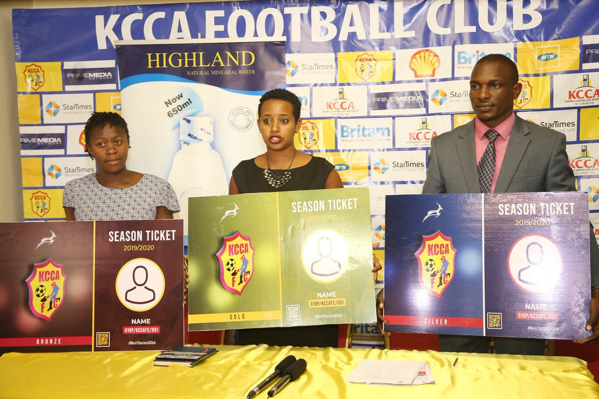 The benefits of the KCCA FC season ticket for 2019/20.